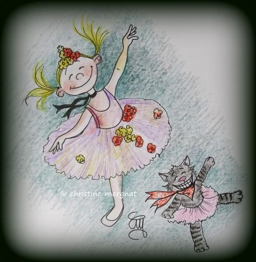 """inspirée de l'oeuvre de Degas """"la danseuse étoile"""""""