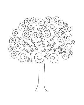 tree-fruits-of-spirit-bw