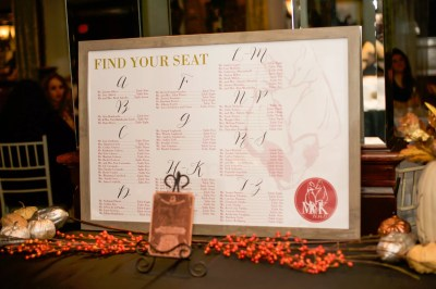 poster seating chart with custom wedding logo find your seat
