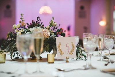 garden table number wedding