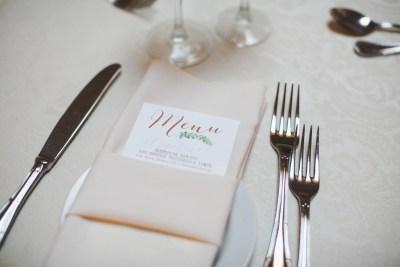 wedding menu garden design