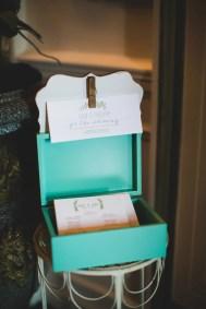 wedding programs with garden watercolor design