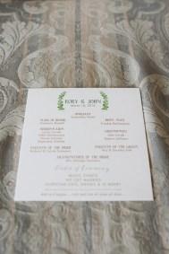 watercolor wedding program design