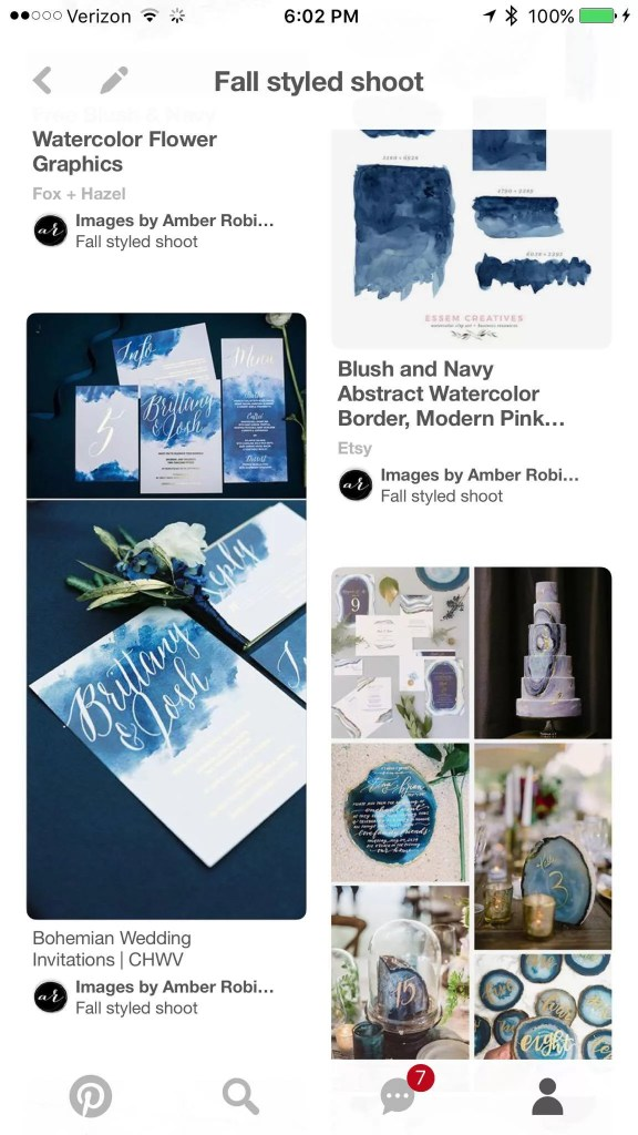 pinterest screenshot for beauty and bordeaux styled shoot design inspiration