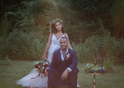 black bride and groom wedding party regrets | meadows at firefly farm | raleigh