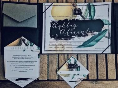Vintage Botany Wedding Invitation