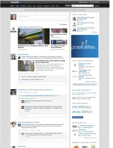 Linkedin Home Page