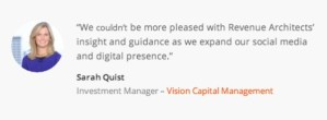 Revenue Architects testimonial example