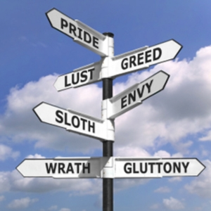 signpost of deadly sins