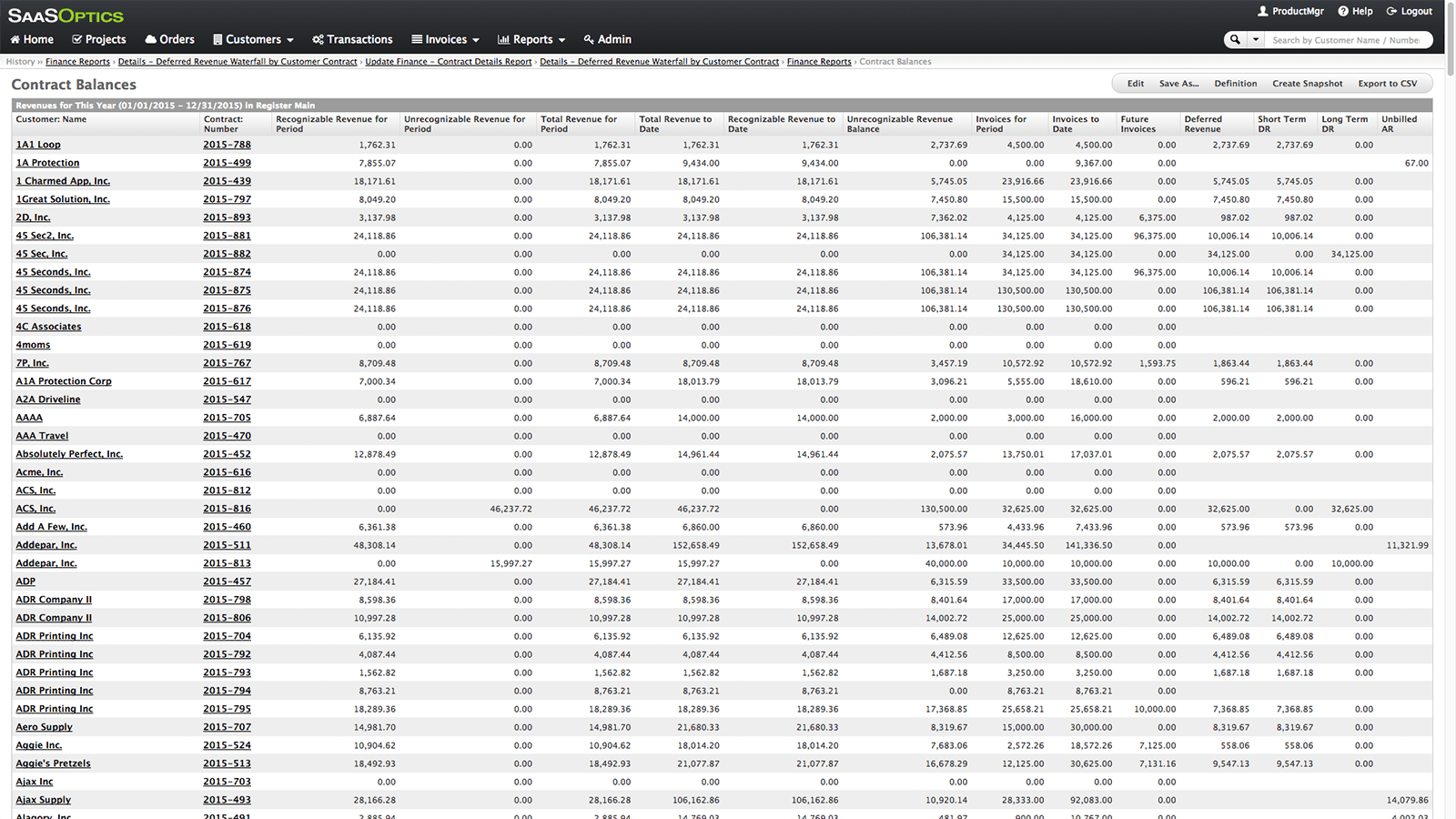 Revenue Recognition Spreadsheet