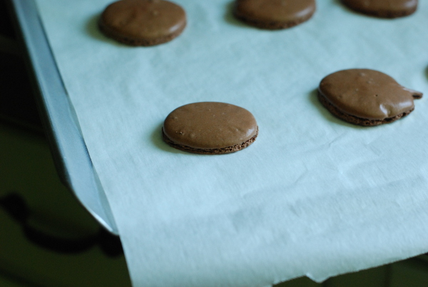 Baked macarons wafers
