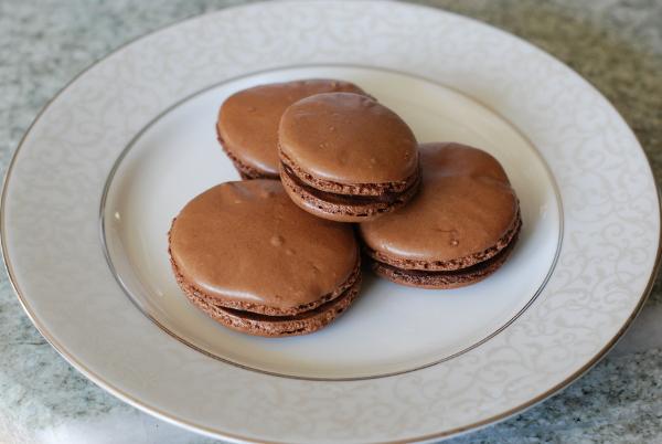 French chocolate macarons, 1