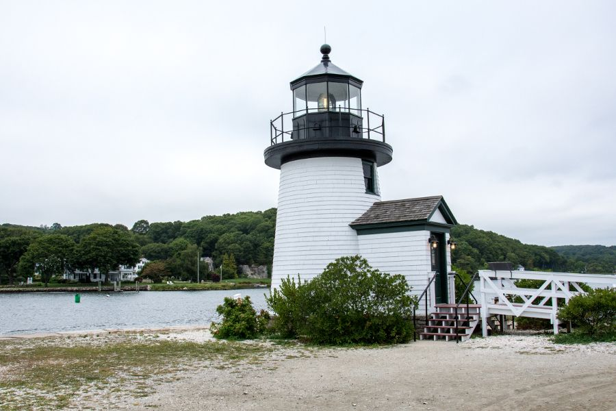 Mystic Seaport Lighthouse in Connecticut.