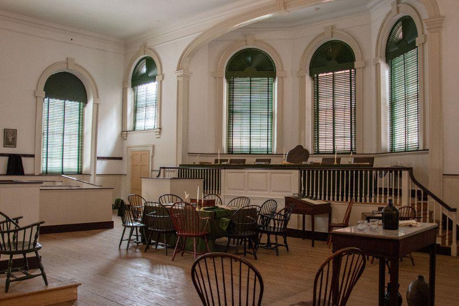 Inside Congress Hall in historic Old City Philadelphia.