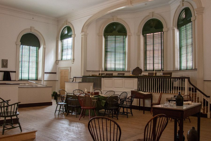 Inside Congress Hall in historic Philadelphia's Old City neighborhood.