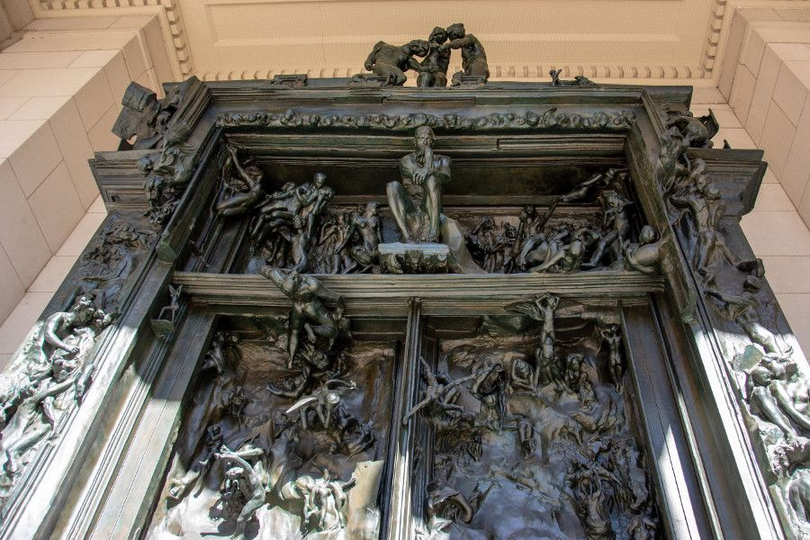 The Gates of Hell at the Rodin Museum in Philadelphia.
