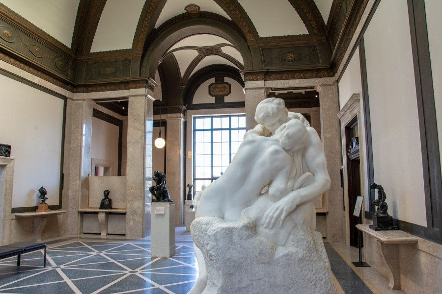 The Kiss inside the Rodin Museum in Philadelphia.
