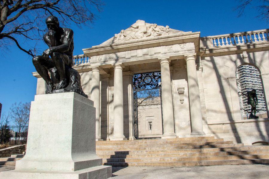 The Thinker outside the Rodin Museum in Philadelphia.