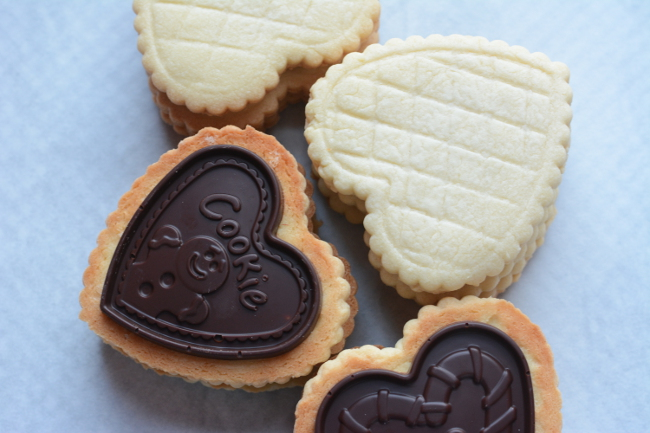 butter cookies with molded chocolate. Choco Leibniz and Petit écolier don't have to be just a special treat. Make these impressive butter cookies with molded chocolate at home!