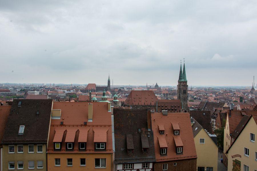 The historic Nuremberg city skyline.