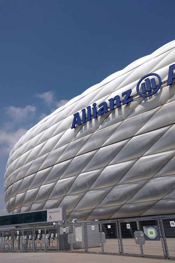 Allianz Arena where FC Bayern plays in Munich, Germany.