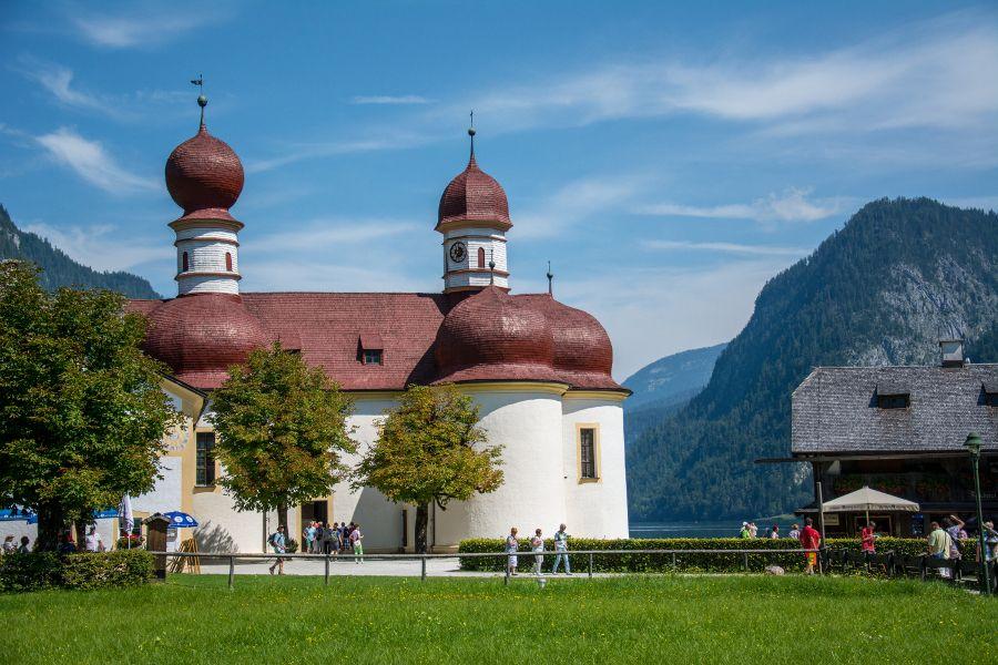 St. Bartholomew pilgrimage church on Königssee.