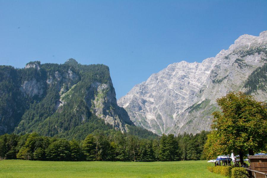 Watzmann mountain in Berchtesgaden National Park.
