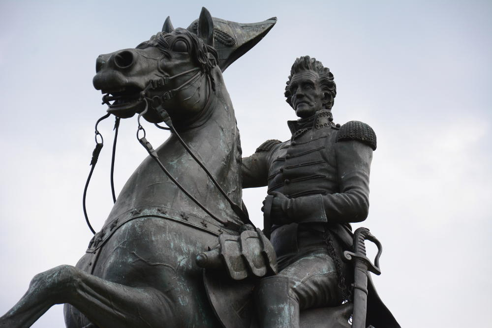 General Jackson Memorial statue. More on how to spend your day in Washington, D.C. on Reverberations.