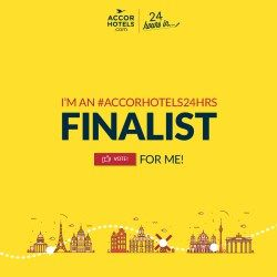 Finalist in Accor Hotels' 24 Hours In competition.