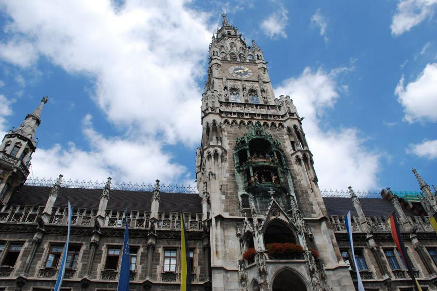Go see the Altes Rathaus (Old City Hall) during 24 hours in Munich Germany.
