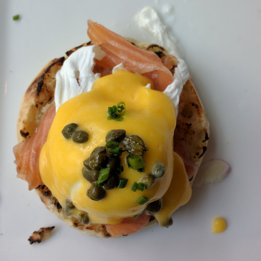Talk about delicious! The Little Lion's smoked salmon benny eggs benedict. Philadelphia's Old City neighborhood's growing fast: the new Museum of the American Revolution and now The Little Lion is serving breakfast.