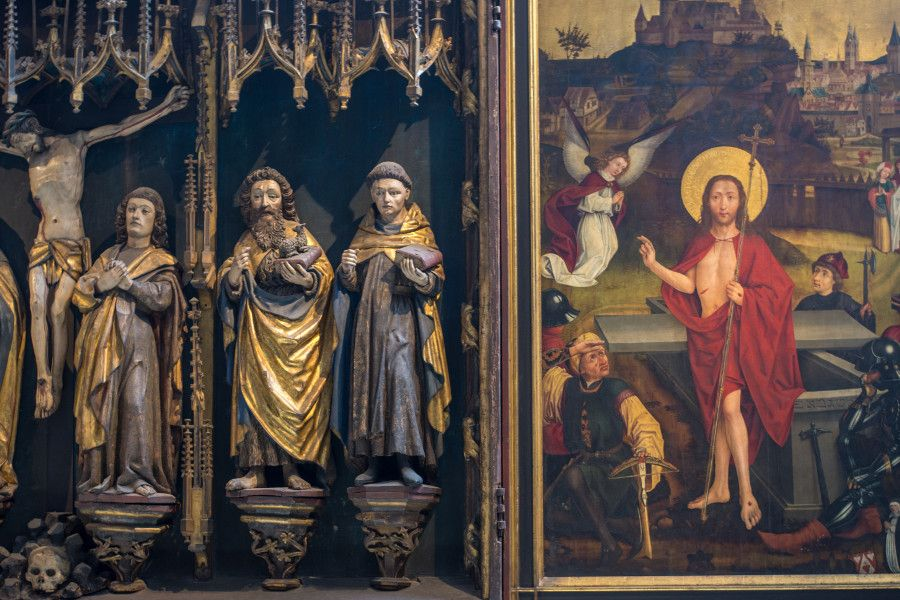 An altarpiece at the Germanisches Nationalmuseum in Nuremberg, Germany.