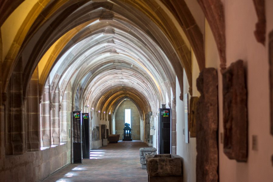 Cloister corridor at Germanisches Nationalmuseum in Nuremberg, Germany.