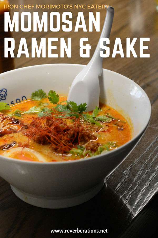 Iron Chef Morimoto's NYC eatery Momosan Ramen & Sake.