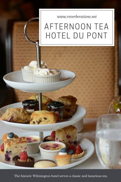 The historic HOTEL DUPONT in Wilmington, Delaware, is known for luxury. And afternoon tea at HOTEL DUPONT's Green Room is no different. #delaware #afternoontea #tea