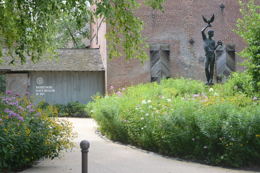 The entrance to the Brandywine River Museum of Art.