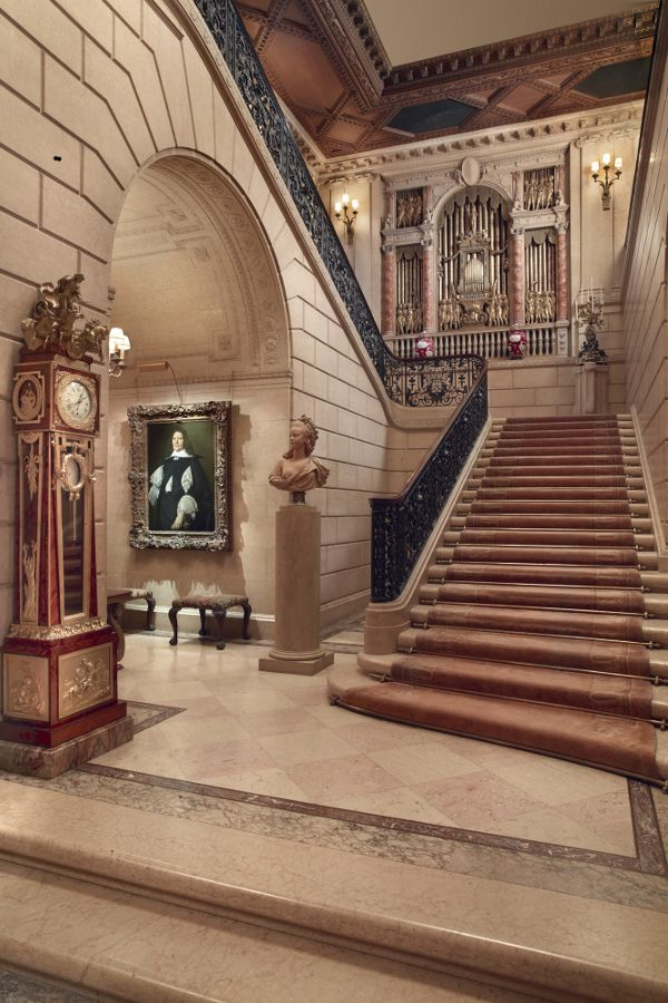 The Grand Staircase photo by Michael Bodycomb, courtesy The Frick Collection, New York.