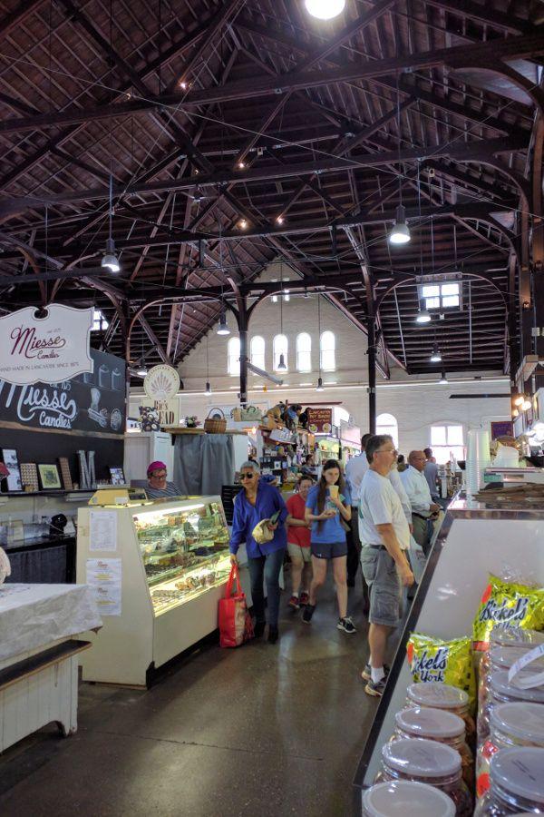 Inside Lancaster's Central Market.