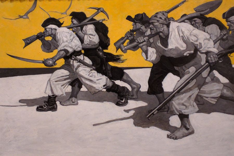 N. C. Wyeth's Treasure Island endpaper illustration.
