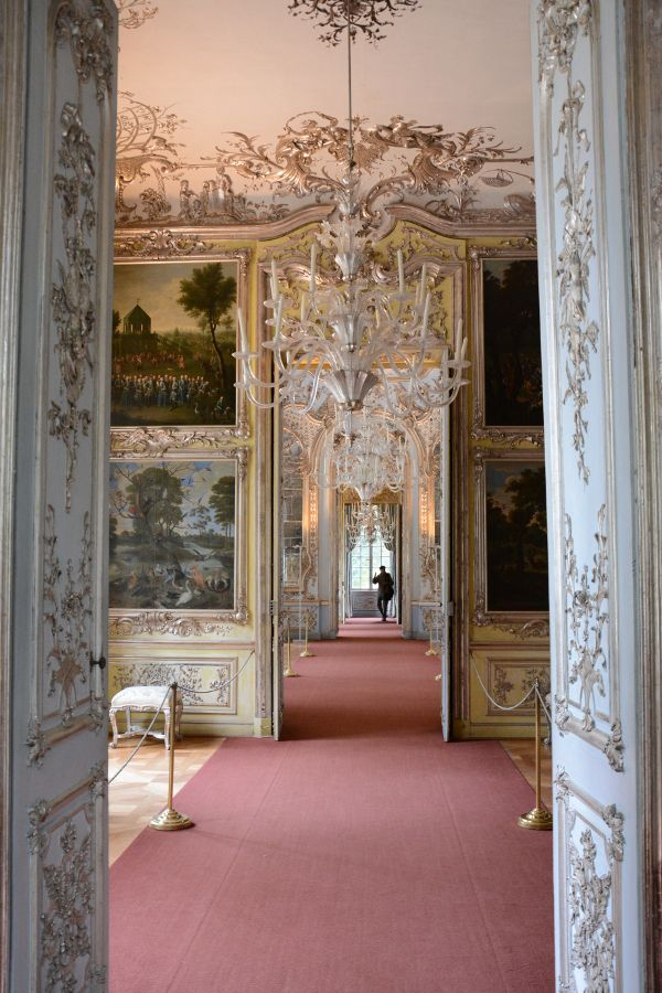 Interior in Amalienburg in Munich, Germany.