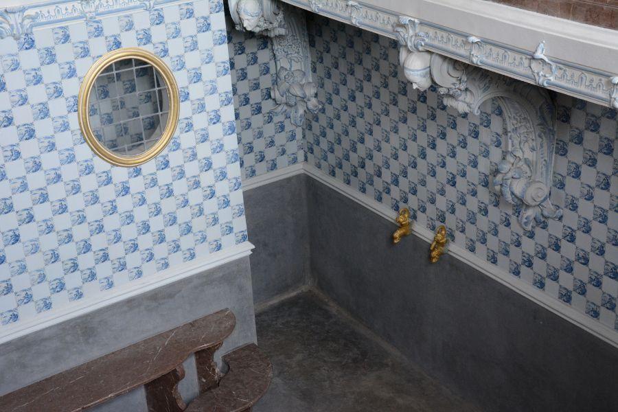 Bathhouse in Badenburg at Nymphenburg in Munich, Germany.