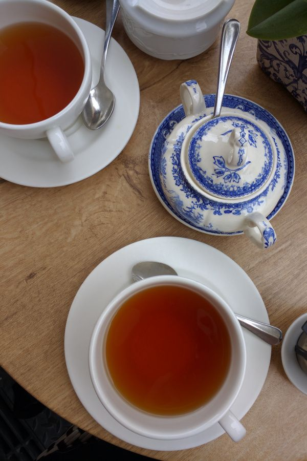 Cups of tea at Brown's Tea Bar in Munich, Germany.