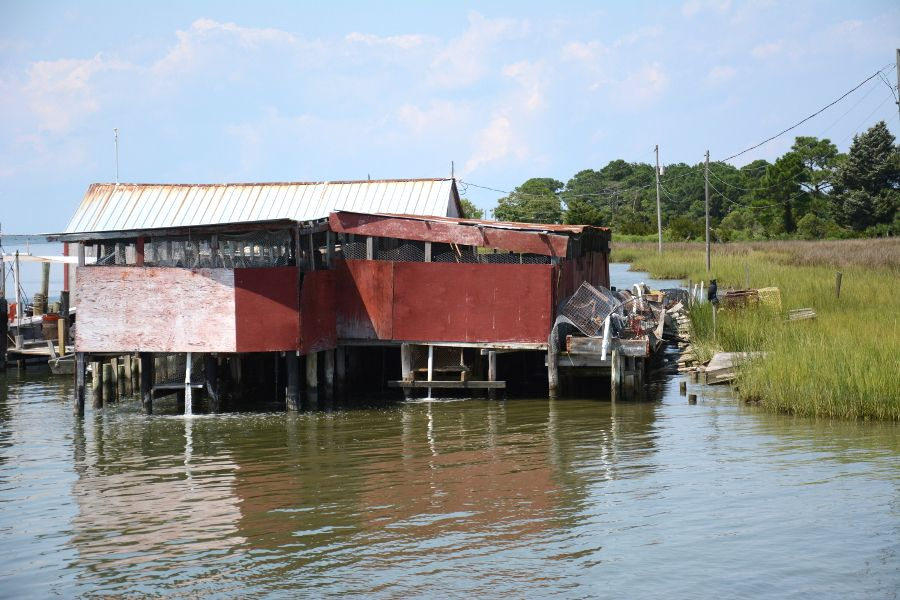 Water building in Ewell on Smith Island.