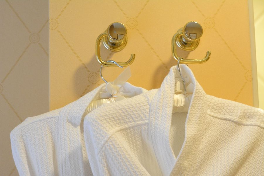 Bathrobes at Hotel Du Pont.