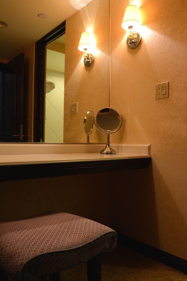 Vanity in Hotel Du Pont room.