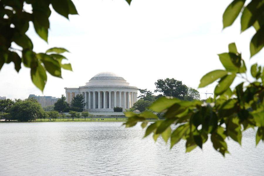 Jefferson Memorial on the Tidal Basin on Washington DC's National Mall.