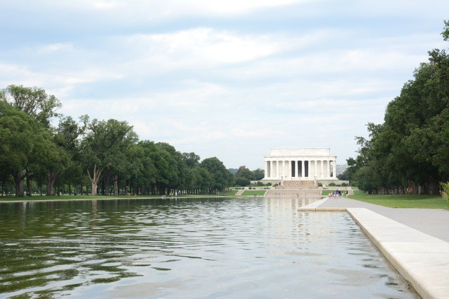 The Lincoln Memorial and the Reflecting Pool in Washington, DC.
