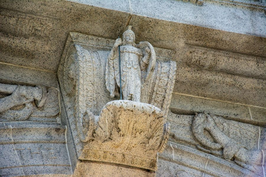 Close up of details in the National Memorial Arch at Valley Forge National Historical Park.