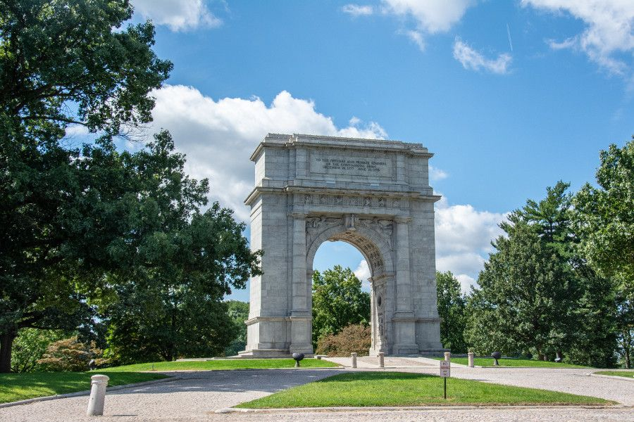 The National Memorial Arch at Valley Forge National Historical Park.