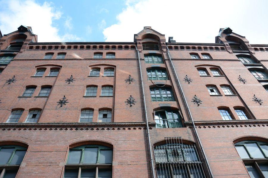 The Speicherstadt, or warehouse complex, in Hamburg, Germany.